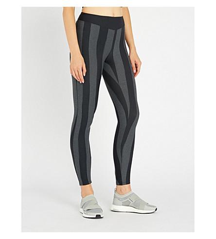 SAPOPA Marija stripy stretch-jersey leggings (Grey+black