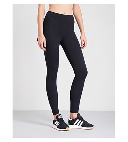 SAPOPA Nuova pleated-panel stretch-jersey leggings (Black