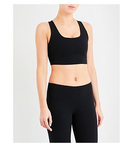 SAPOPA Poppy stretch-jersey sports bra (Nero