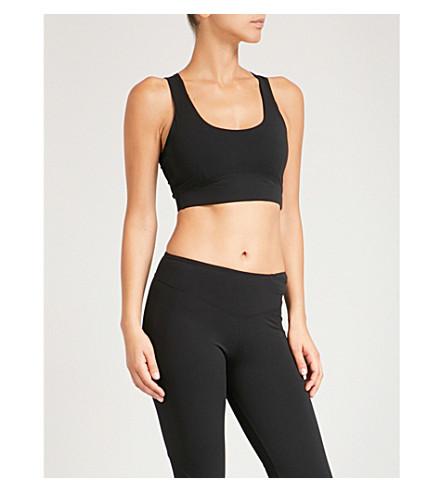 SAPOPA Poppy stretch sports bra (Black+white