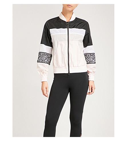 SAPOPA Mrs Nice macramé-panelled shell jacket (Pink