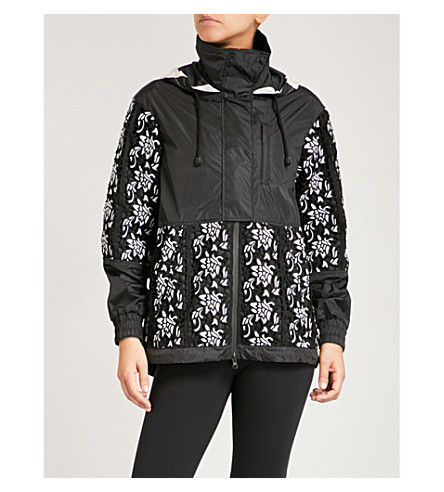 SAPOPA Sunset shell and macramé jacket (Black