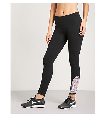 SAPOPA Satellite mesh and lace-panneled stretch leggings (Black