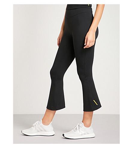 SAPOPA Stella flared stretch leggings (Black