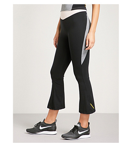SAPOPA Stella panelled flared stretch leggings (Pink+black