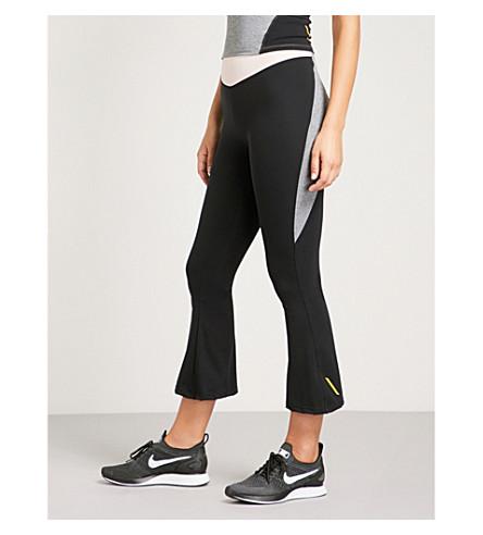 SAPOPA Nuova ruffled-overlay leggings (Pink+black