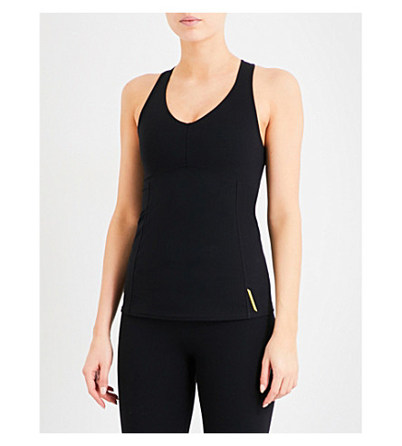 SAPOPA Tulipano stretch-jersey top (Nero