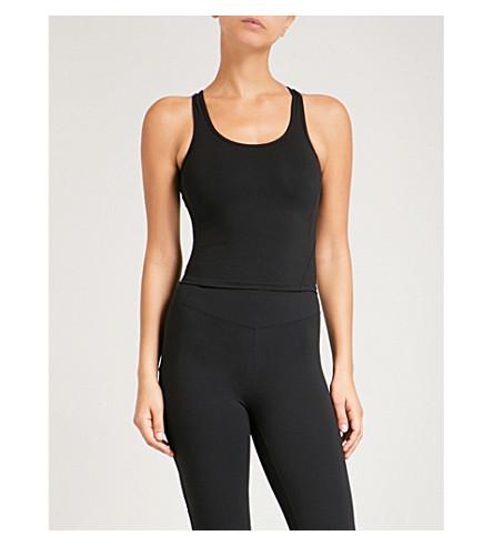 SAPOPA Classy stretch cropped top (Black