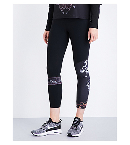 SAPOPA Valeria stretch-jersey cropped leggings (Black