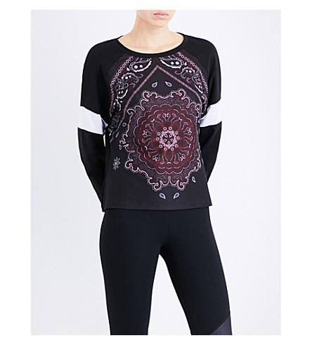 SAPOPA Opera cotton-blend sweatshirt (Black
