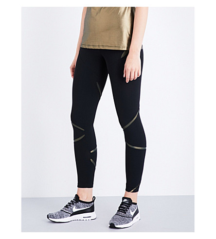 SAPOPA Novita stretch-jersey leggings (Gold