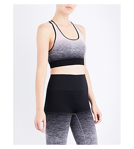 PEPPER & MAYNE Compression stretch-jersey sports bra (Ombre+lilac