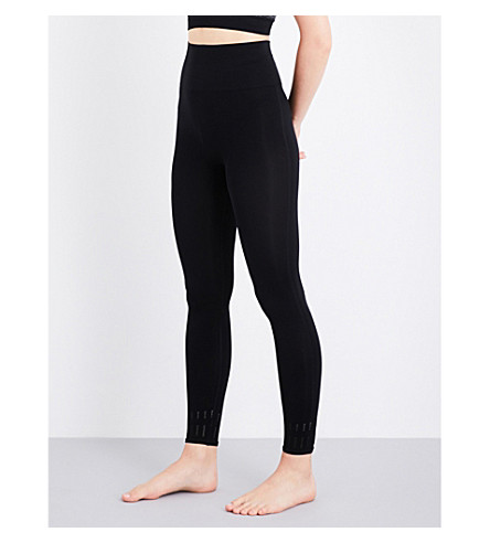 PEPPER & MAYNE Compression stretch-jersey leggings (Black