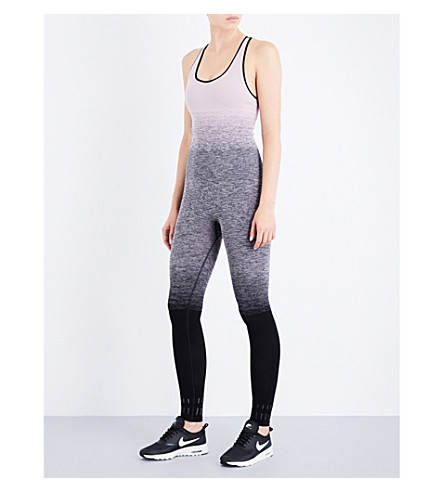 PEPPER & MAYNE Compression stretch-jersey unitard (Ombre+lilac