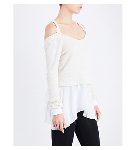 PEPPER & MAYNE Ballet open-back jersey top (Buttermilk