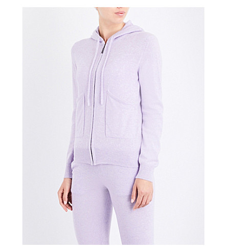PEPPER & MAYNE Long-sleeved cashmere hoody (Lilac