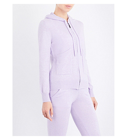 PEPPER & MAYNE Relaxed-fit cashmere jogging bottoms (Lilac