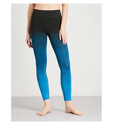 PEPPER & MAYNE Textured-print stretch-jersey leggings (Poseidon