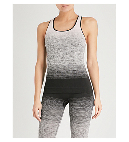 PEPPER & MAYNE Ombré-patterned stretch-knit top (Back+stage+blush