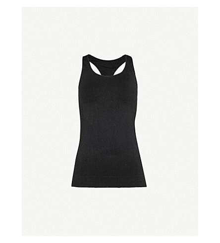 PEPPER & MAYNE Racerback stretch-knit top (Pitch+black