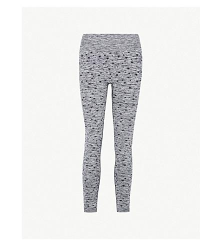 PEPPER & MAYNE Star-pattern stretch-knit leggings (Grey+space+dye