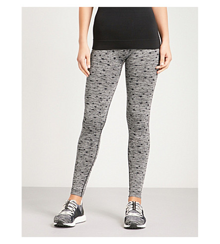 PEPPER & MAYNE Star-pattern stretch-knit leggings (Grey+space+dye