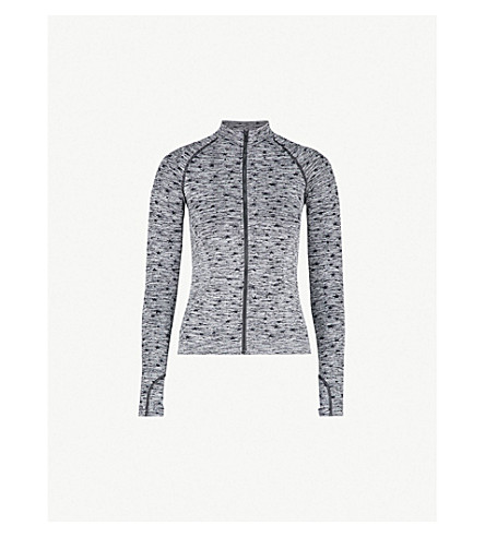 PEPPER & MAYNE Star-pattern stretch-knit jacket (Grey+space+dye