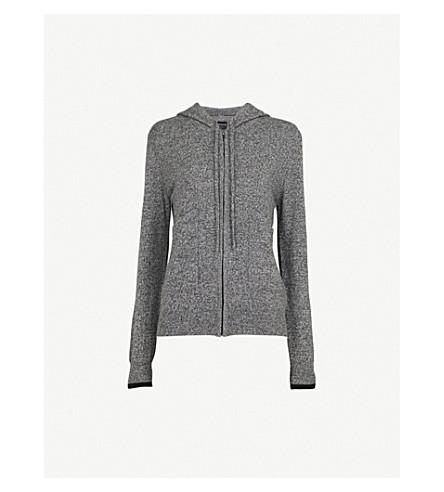 PEPPER & MAYNE Marl-effect cashmere hoody (Taos