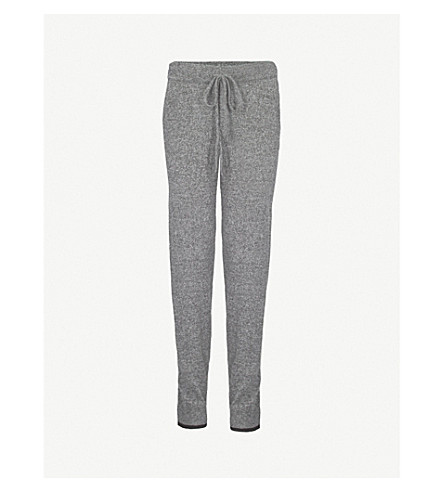 PEPPER & MAYNE Tapered marl-effect cashmere jogging bottoms (Taos