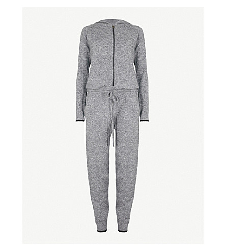 PEPPER & MAYNE Hooded cashmere onesie (Taos