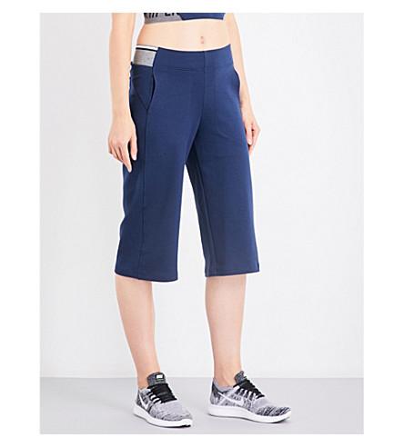 LNDR Wander wide-leg cropped jersey trousers (Navy