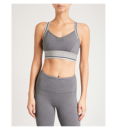 LNDR Wild Thing stretch-jersey sports bra (Grey+marl