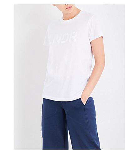LNDR Logo-print organic-cotton-jersey T-shirt (White