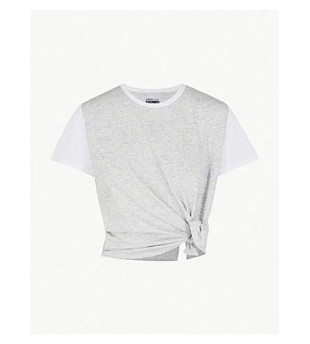 LNDR Tuck knotted jersey T-shirt (Grey+marl