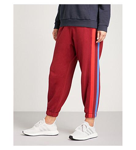 LNDR Mischief side-stripe cotton-jersey jogging bottoms (Rust