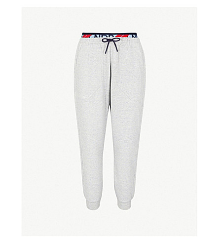 LNDR Dander relaxed-fit stretch-jersey jogging bottoms (Grey marl