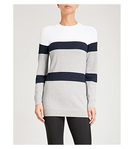 LNDR Apres colour-block wool-blend jumper (White