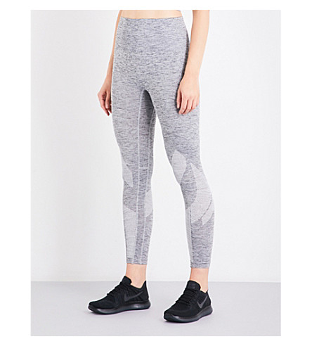 LNDR Six eight high-rise cropped jersey leggings (Grey+marl