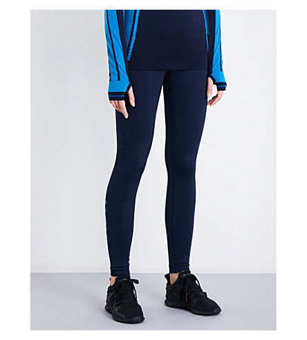 LNDR Branded compression performance stretch-jersey leggings (Navy