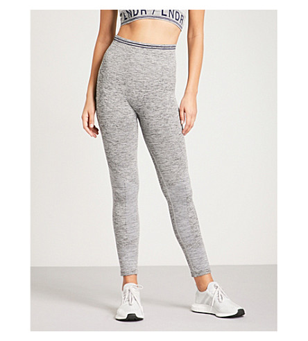 LNDR Seven Eight compression seamless stretch-jersey leggings (Grey+marl