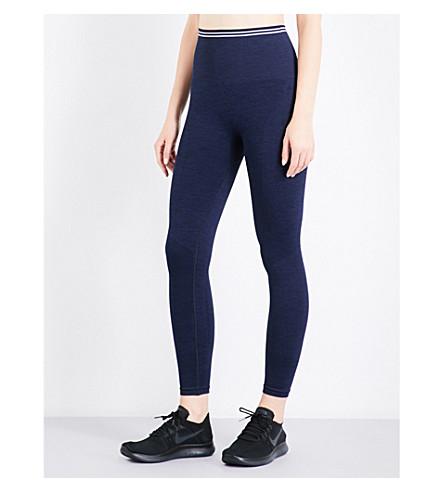LNDR Seven Eight compression seamless stretch-jersey leggings (Navy marl