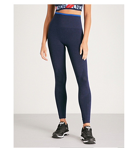 LNDR Six Stripe stretch-jersey leggings (Navy+marl