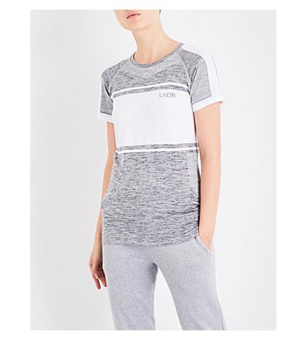 LNDR Varsity contrast-panel jersey T-shirt (Grey+marl