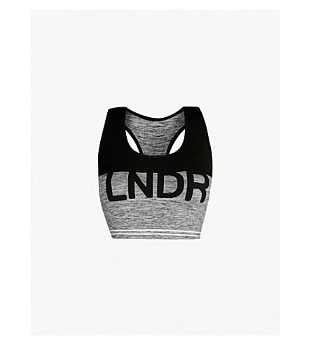LNDR Cadet jersey sports bra (Grey+marl