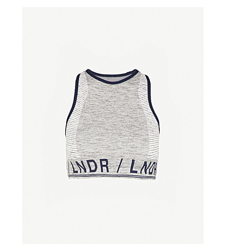 LNDR Aero jersey sports bra (Grey+marl