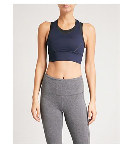 LNDR Blackout stretch-jersey sports bra (Navy