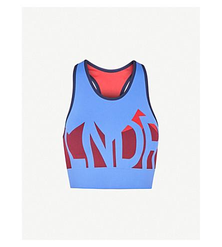 LNDR Alpine jersey sports bra (Sky+blue