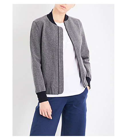 LNDR Scout wool-blend bomber jacket (Grey