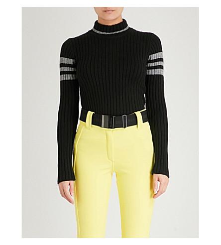 GOLDBERGH Striped knitted ski jumper (Black