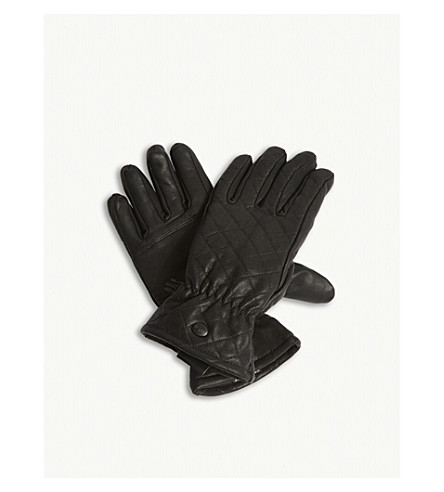 GOLDBERGH Nishi leather quilted ski gloves (Black